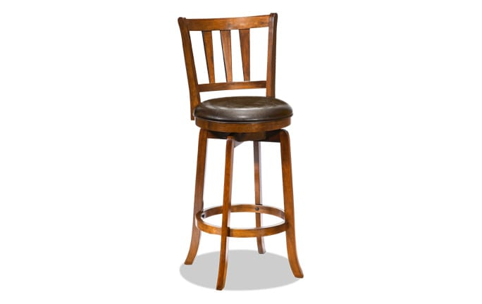 Ashland Swivel Cherry Counter Stool