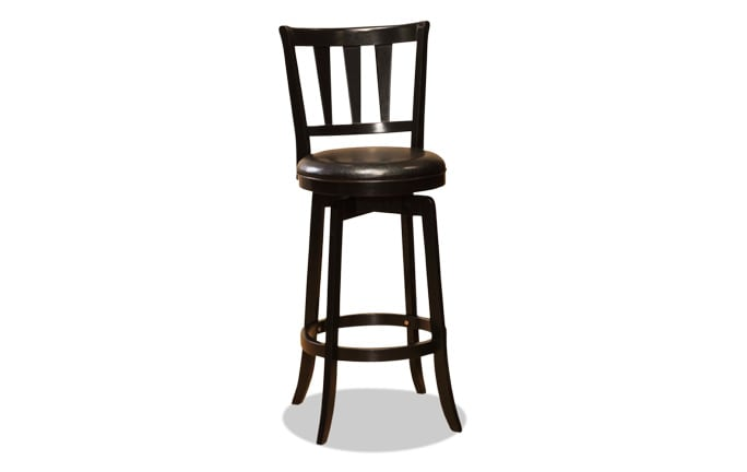 Ashland Swivel Black Bar Stool