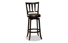 Ashland Black Swivel Bar Stool