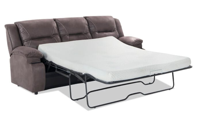 Jennings Gray Queen Sleeper With Bob-O-Pedic Gel Memory Foam Mattress
