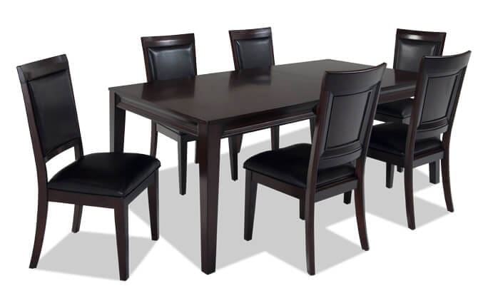 Dining Room Sets Bobs Discount Furniture - Black dining room table and chair sets