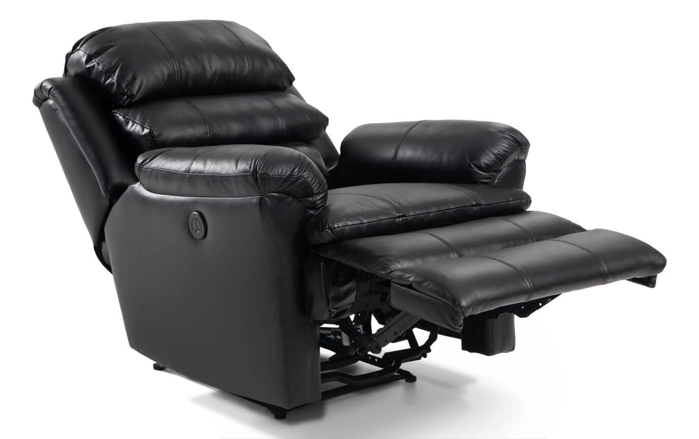 Leather Bob-O-Pedic Power Recliner