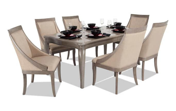 Gatsby 7 Piece Dining Set with Swoop Chairs