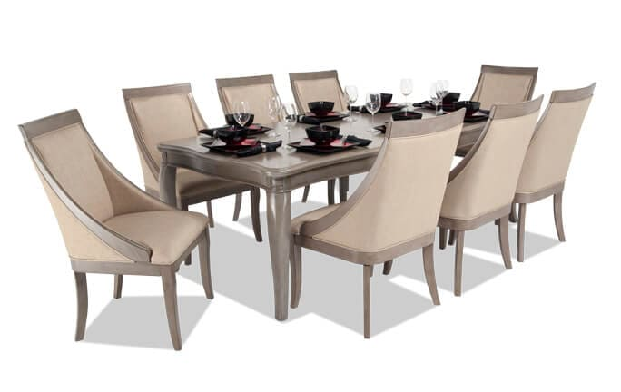 Gatsby 9 Piece Dining Set with Swoop Chairs