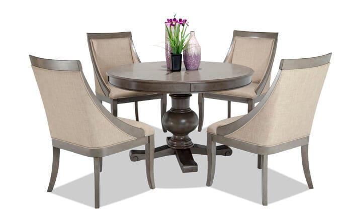 Gatsby Round 5 Piece Dining Set with Swoop Chairs