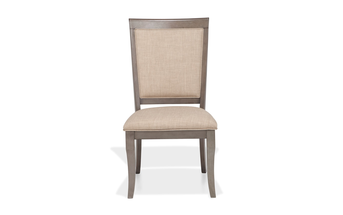 Gatsby Round Gray 7 Piece Dining Set with Side Chairs