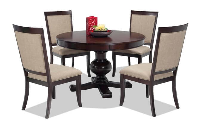 Gatsby Round 5 Piece Dining Set With Side Chairs