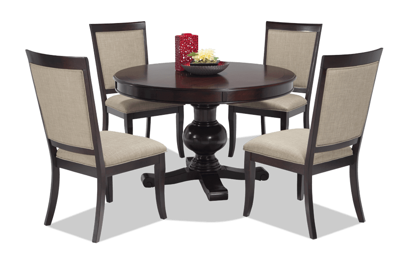 Gatsby Round 5 Piece Dining Set With Side Chairs | Bob\'s Discount ...