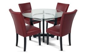 Matinee Red 5 Piece Dining Set