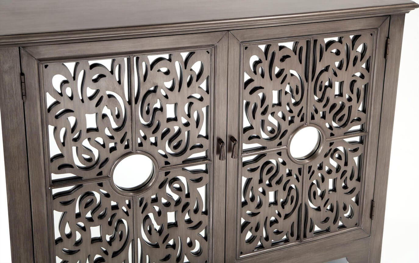 Mirrored Lace 2 Door Cabinet