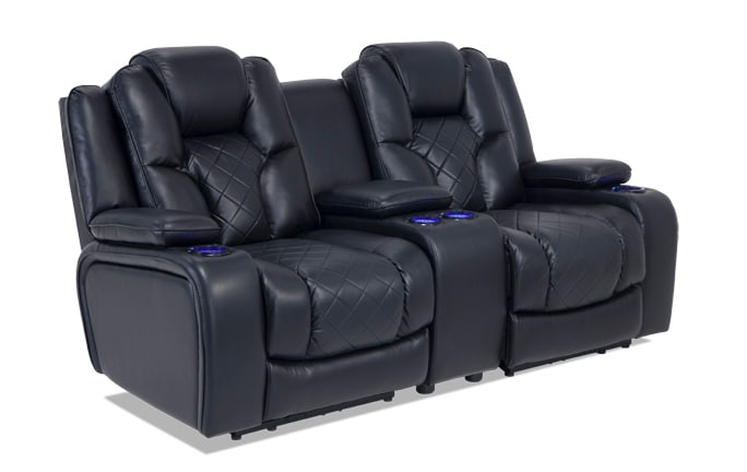 Gladiator Dual Power Reclining Console Loveseat