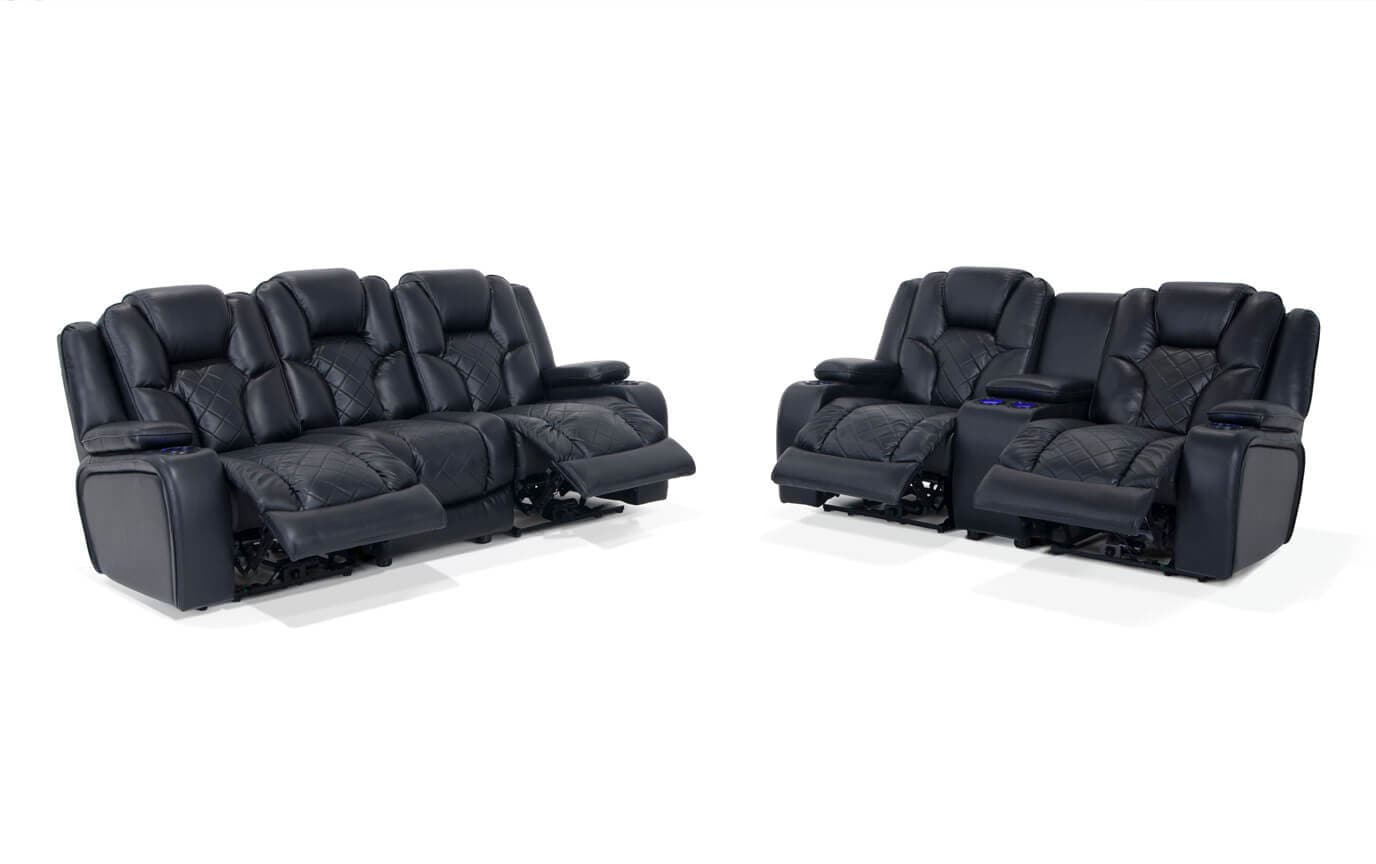 Gladiator Dual Power Reclining Sofa & Console Loveseat