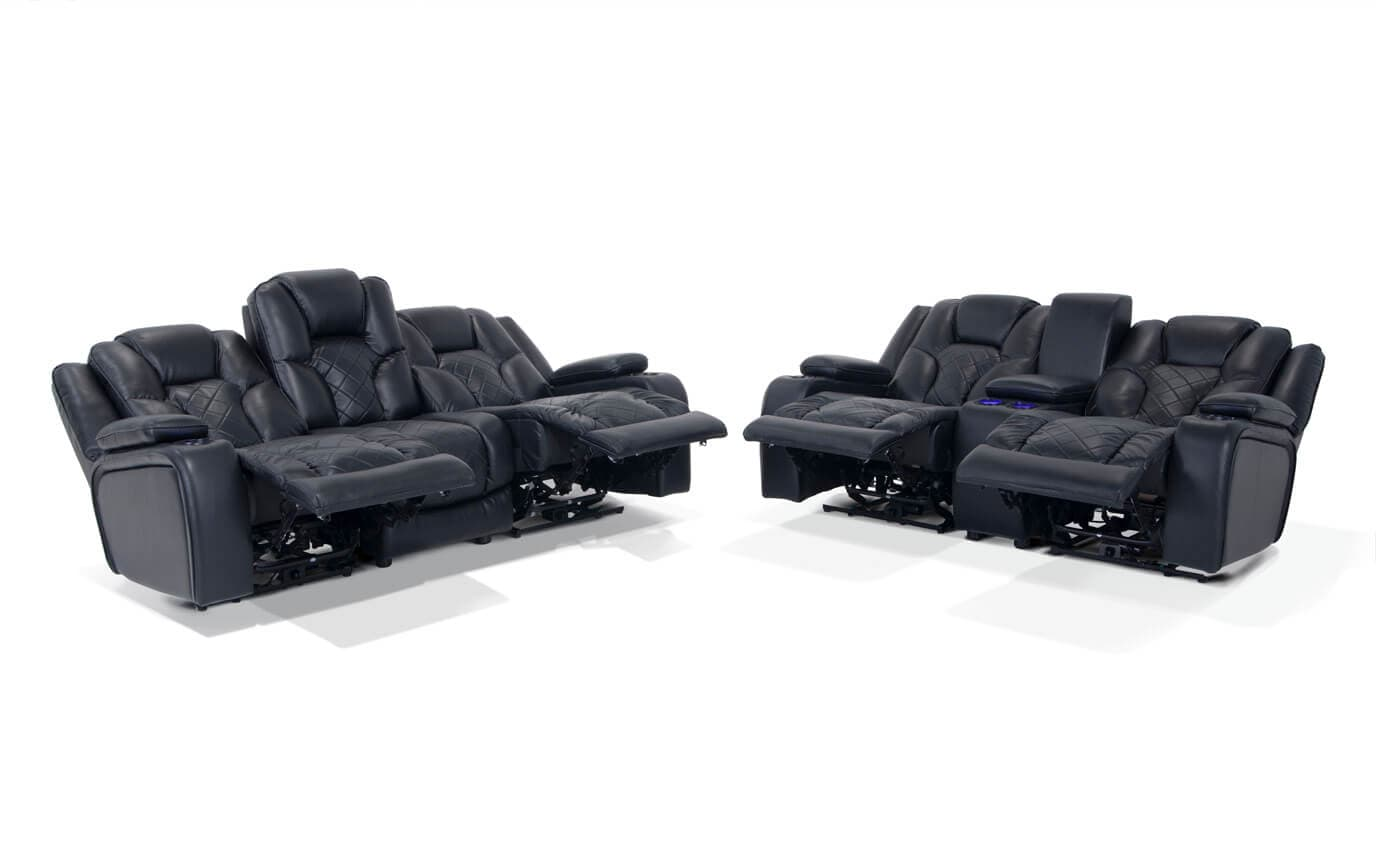 Gladiator Dual Power Reclining Sofa & Console Loveseat | Bob\'s ...