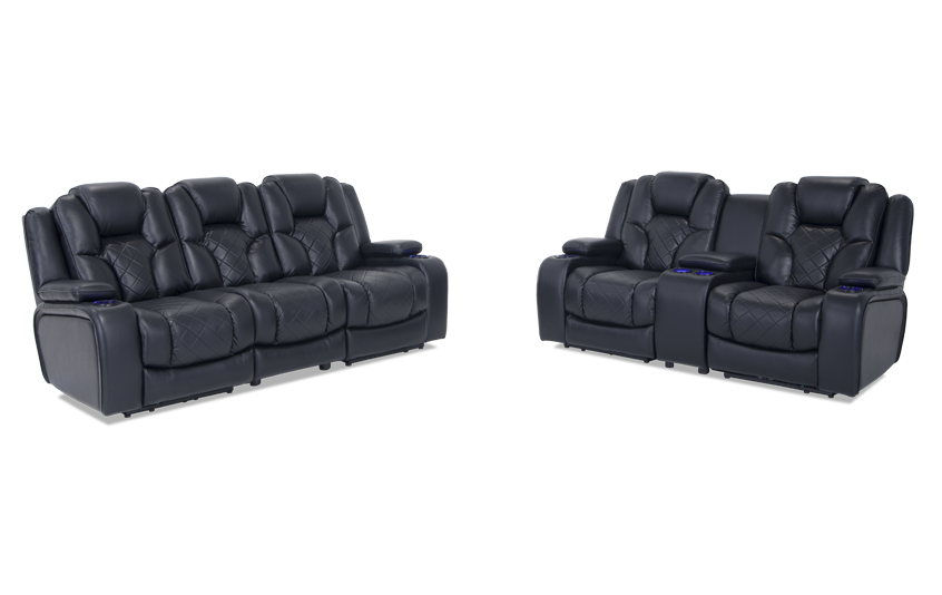 Gladiator Dual Power Reclining Sofa U0026 Console Loveseat