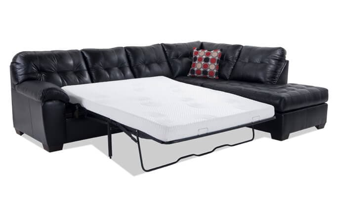 Mercury Left Arm Facing Bob-O-Pedic Gel Queen Sleeper Sectional