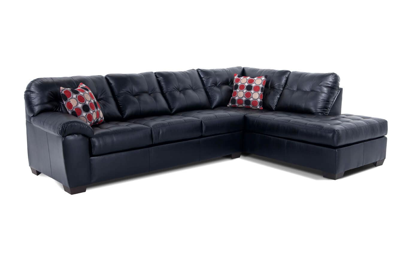 Mercury Black 2 Piece Left Arm Facing Sectional Bobs Com