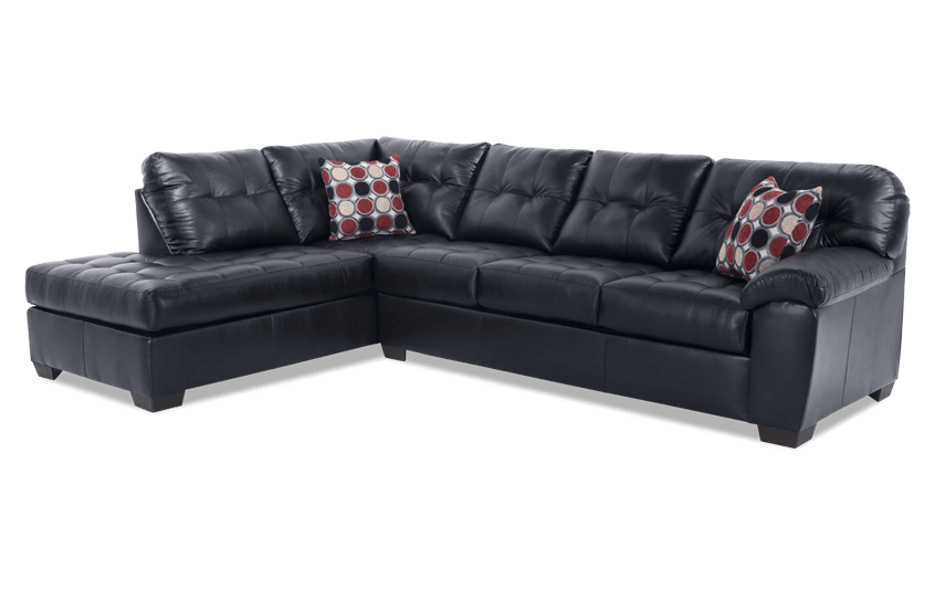 Mercury Black 2 Piece Right Arm Facing Sectional