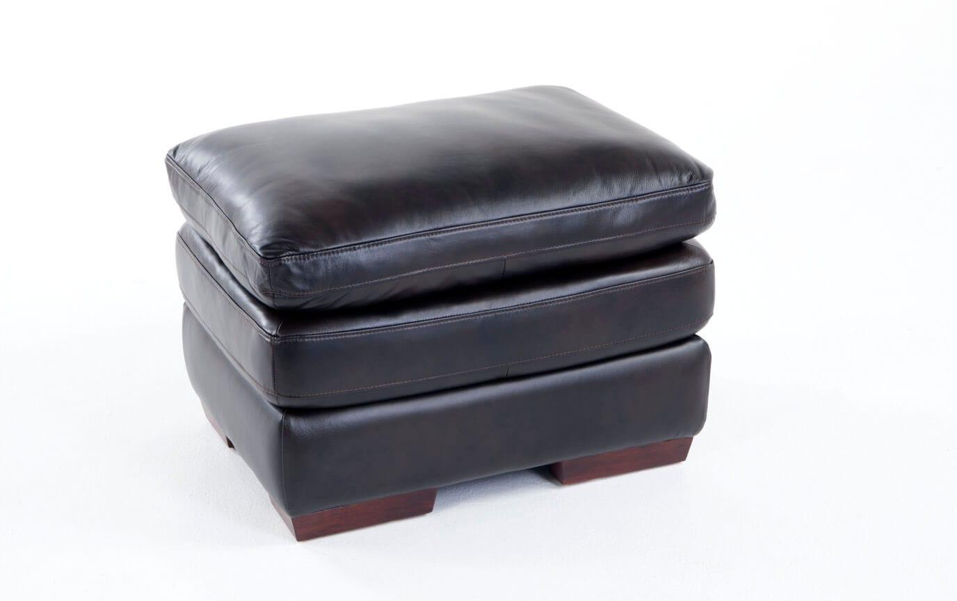 Carter Leather Ottoman
