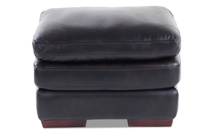 Carter Leather Ottoman