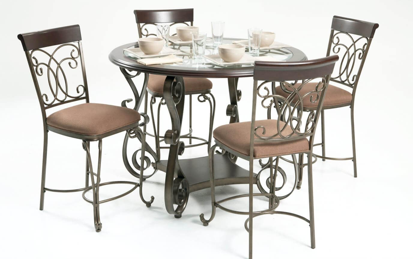 Bombay Counter 5 Piece Dining Set