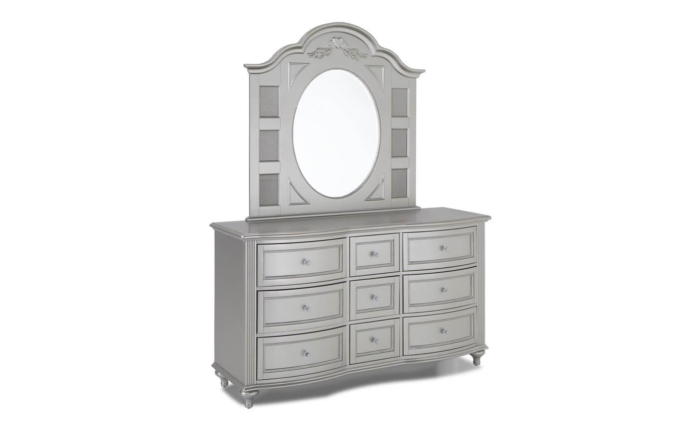 Madelyn Platinum Dresser & Mirror