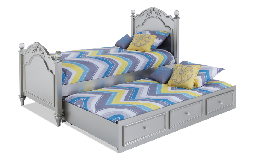 Madelyn Twin Platinum Bed With Trundle
