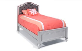 Madelyn Twin Platinum Upholstered Bed