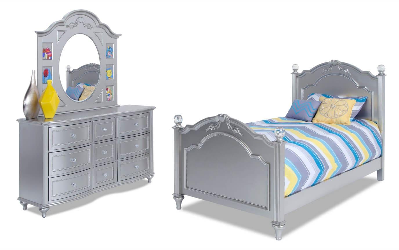 Madelyn Youth Twin Platinum Bedroom Set Bobs Com