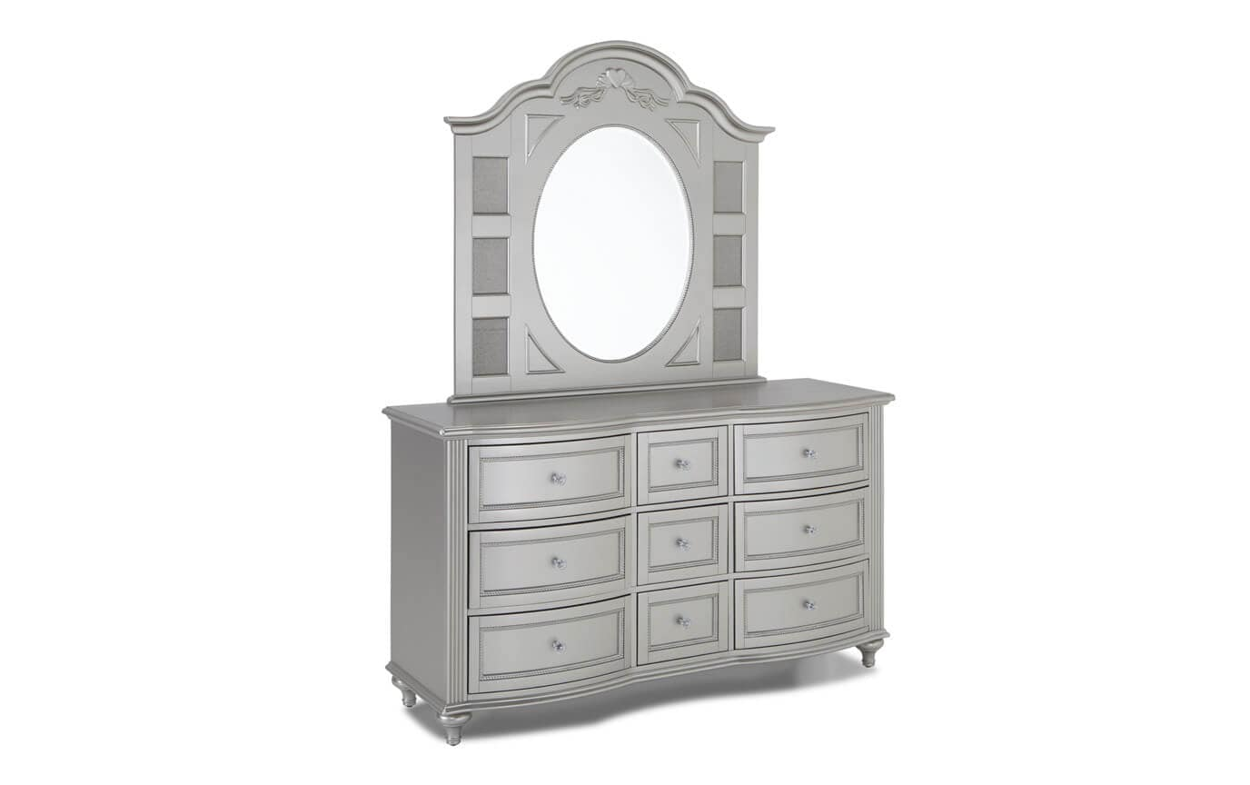 Madelyn Youth Twin Platinum Bedroom Set
