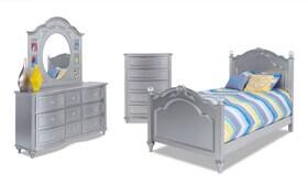 Madelyn Youth Full Platinum Bedroom Set