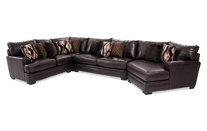 Ritz 4 Piece Left Arm Facing Sectional with Cuddler Chaise