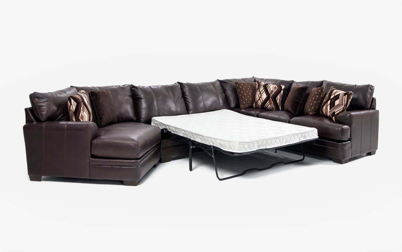Ritz 4 Piece Queen Innerspring Sleeper Sectional with Cuddler Chaise