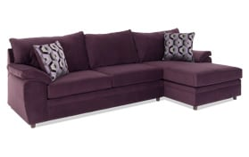 Odin Plum Left Arm Facing Sectional