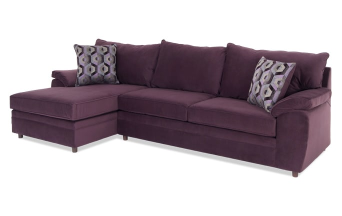 Odin Plum Right Arm Facing Sectional