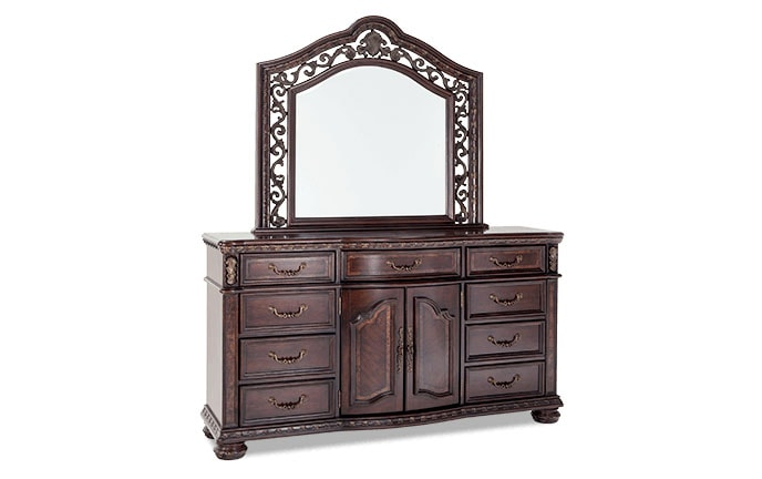 Grand Manor Dresser & Mirror