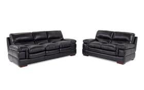 Carter Leather Sofa & Loveseat