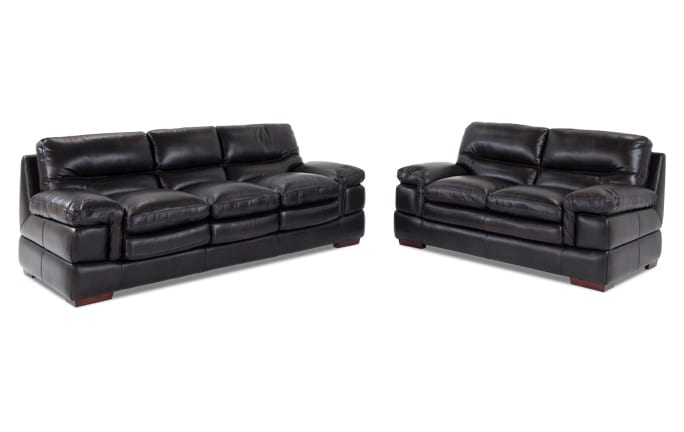 Carter Leather Sofa & Loveseat