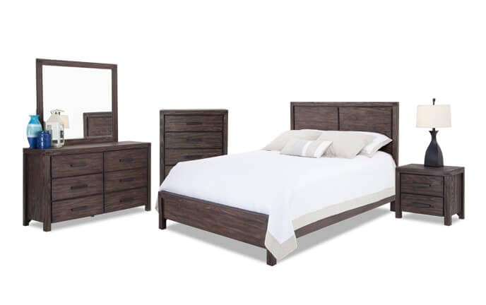 Rustic Bedroom Sets | Austin Bedroom Set Bob S Discount Furniture