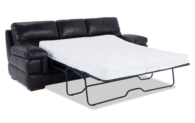 Carter Leather Queen Sleeper With Innerspring Mattress