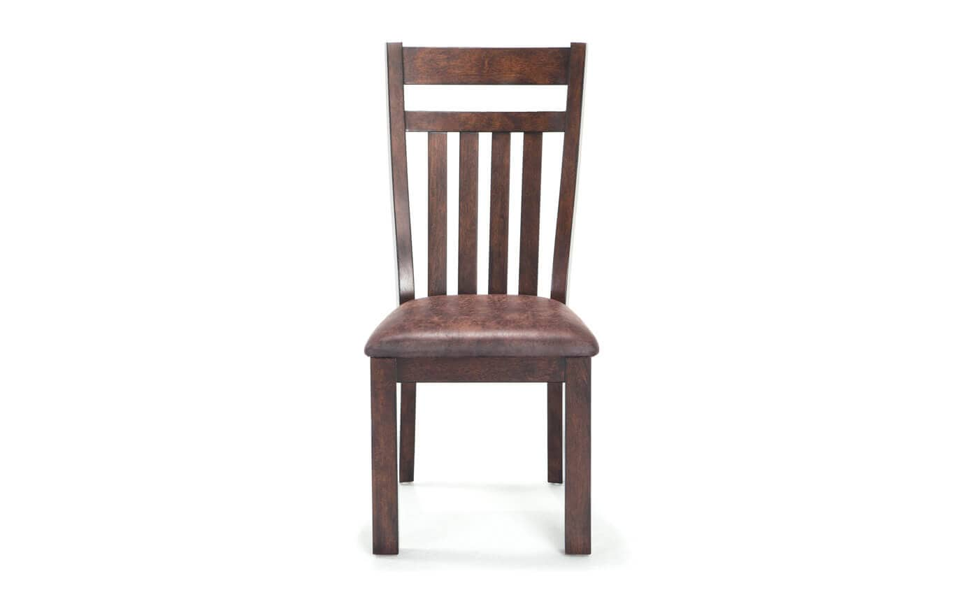 Slatted Back Chairs ~ Mesa slatted back side chair bob s discount furniture