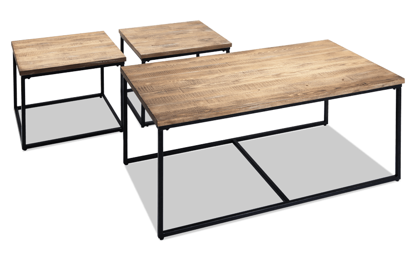 Plank Cocktail Table Set