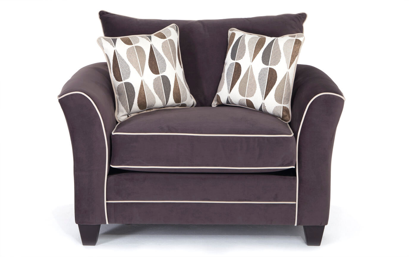 Piper Gray Cuddler Chair
