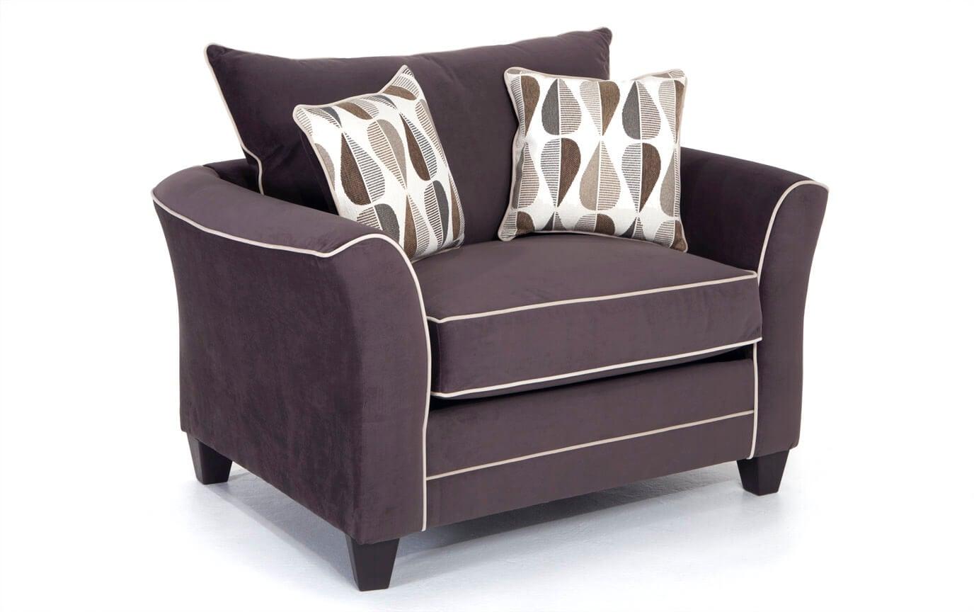 Piper Gray Cuddler Chair