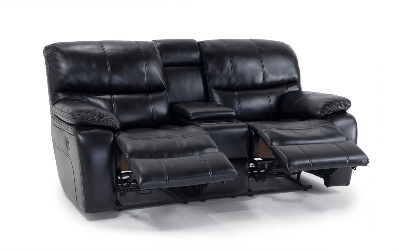 Avenger Power Reclining Console Loveseat