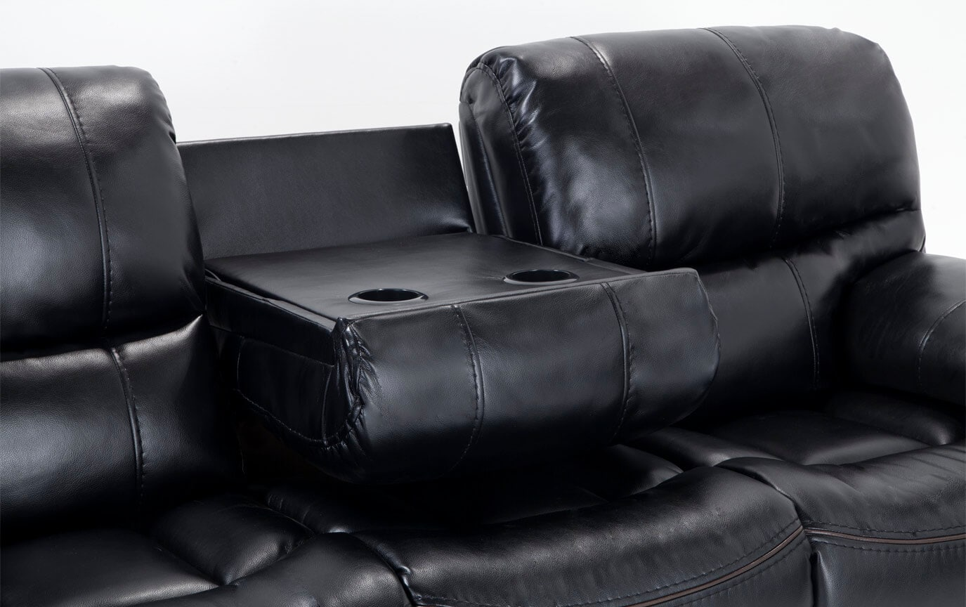 Avenger Black Power Reclining Sofa