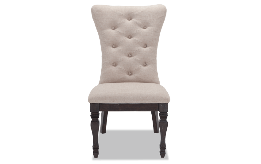 Riverdale Upholstered Dining Chair Bob s Discount Furniture  majestic looking gray The Best 100 Majestic Looking Gray Chairs Image