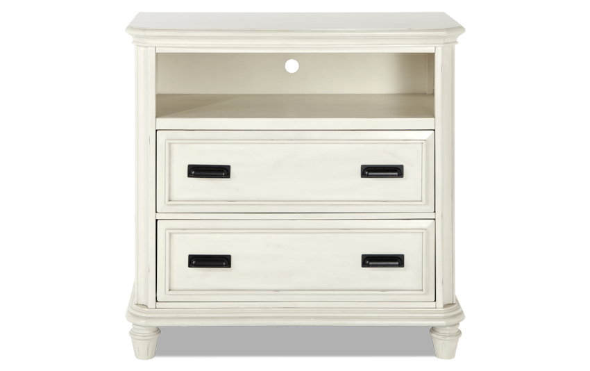Mystic Bay White TV Chest