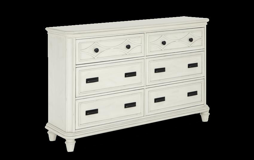 Mystic Bay White Dresser
