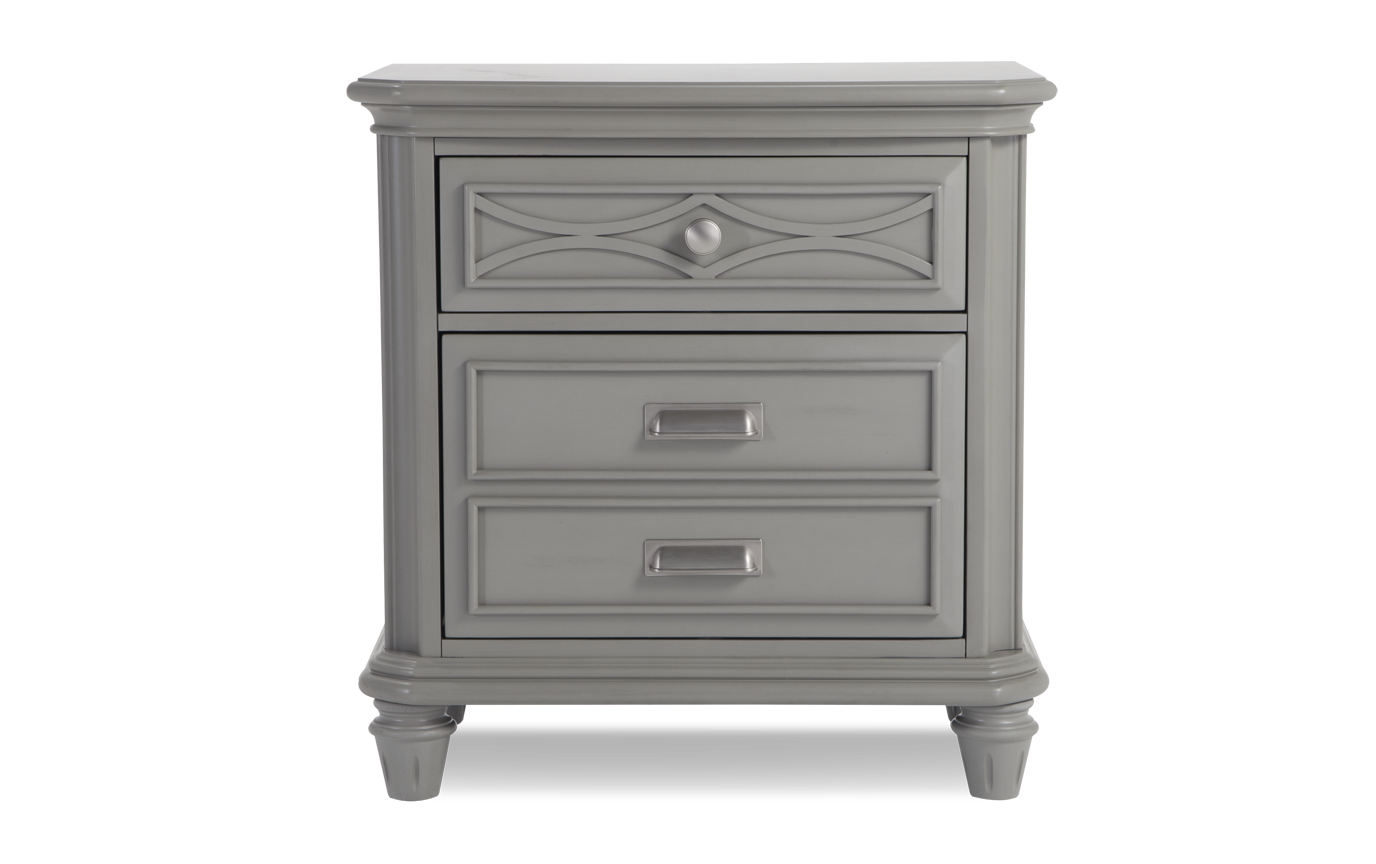 Mystic Bay Gray Nightstand