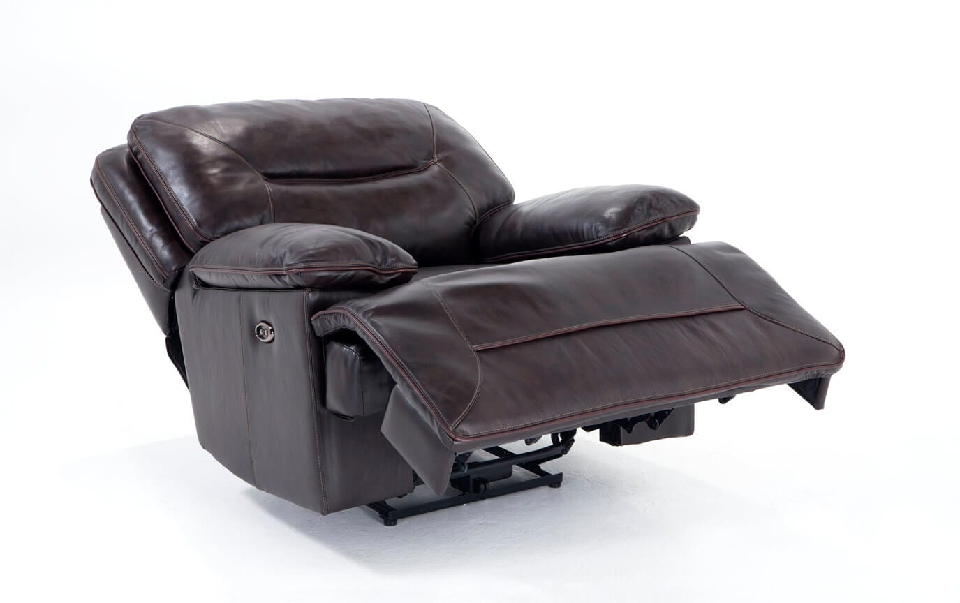 Marco Leather Power Recliner Bobs Com